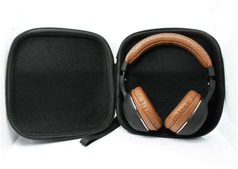 Hard Leather Carrying Case for Over-Ear Headphones Full