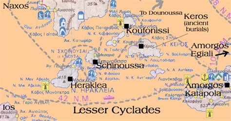 Ferry Routes - Western Cyclades