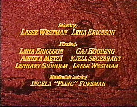Lady och Lufsen / Lady and the Tramp Swedish Voice Cast