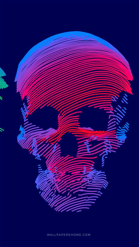 Wallpaper abstract, 3D, colorful, skull, 8k, Abstract #21287