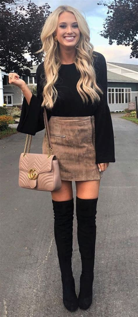 suede skirt for fall | Winter graduation outfit, Fashion