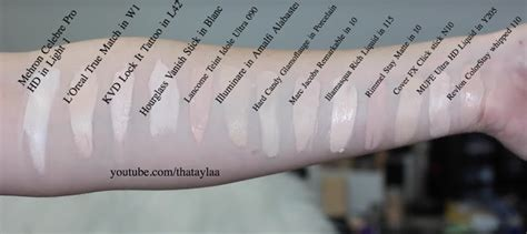 30+ Palest Shades of Different Foundations SWATCHED