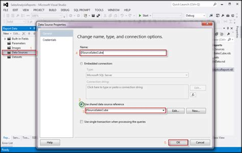 Create First SSRS Report with SQL Server Analysis Services
