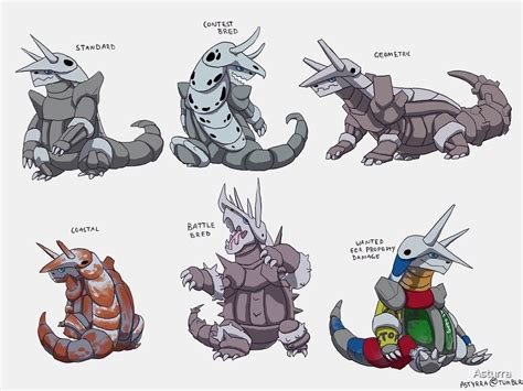 """""""Aggron variations"""" by Astyrra 