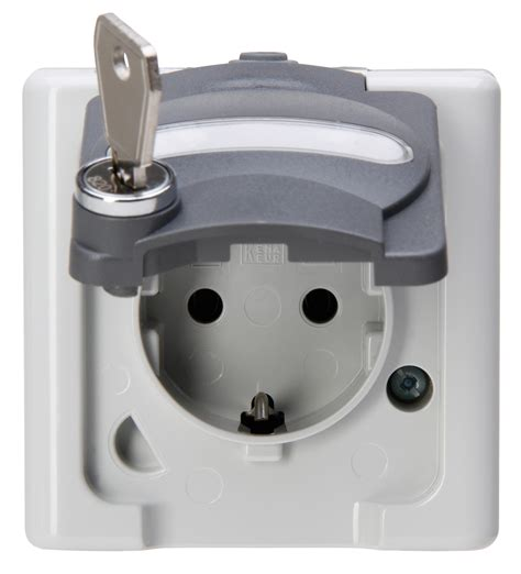 Earthed socket outlet with hinged lid - Heinrich Kopp GmbH