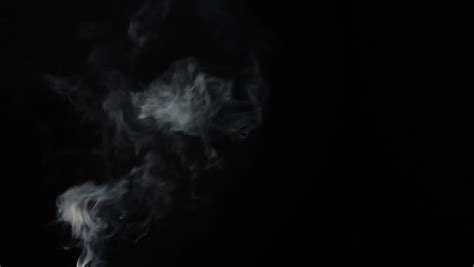 White Smoke Effect Isolated On Stock Footage Video (100%