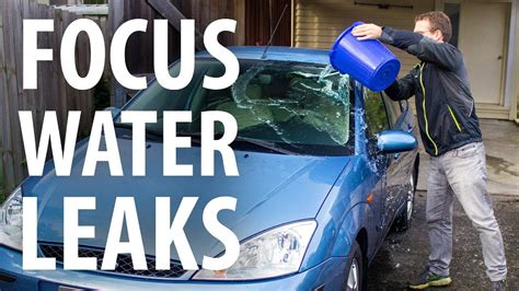 How to: Fix Ford Focus water leaks (wet passenger footwell