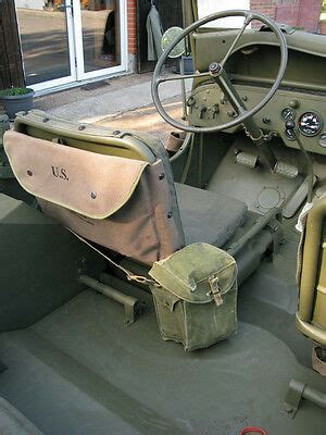 US ARMY CANVAS MAP CASE KARTENTASCHE Willys Jeep MB M201