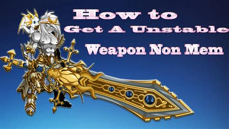 AQW How To Get A Unstable Weapon NoN MeM - YouTube