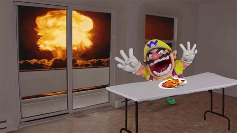 Wario dies in the bombing of Hiroshima while eating spicy