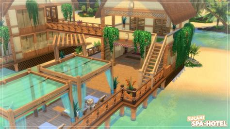 Mod The Sims: Sulani Spa-Hotel - no CC by Axaba • Sims 4