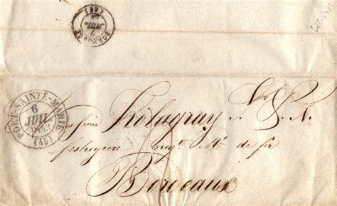1843 French Letter - The Graphics Fairy