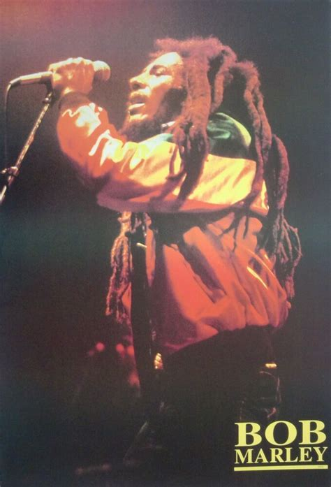 """BOB MARLEY """"HOLDING MIC & SINGING"""" POSTER FROM ASIA"""