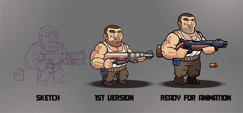 Spine Animation: Shooting game on Behance