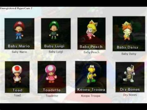 Mario kart wii characters (and how to unlock) - YouTube