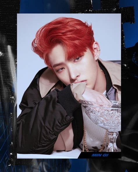 ATEEZ's Min Gi dazzles in red hair in latest individual