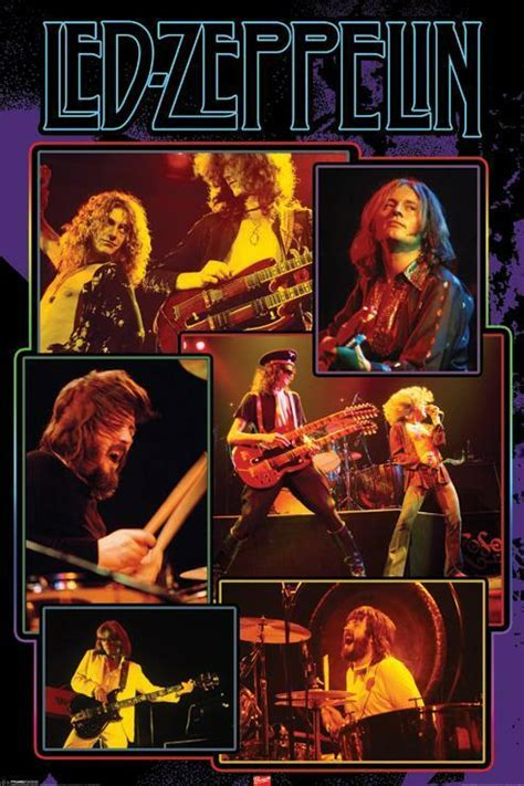 Led Zeppelin Collage Image Refrigerator / Tool Box Magnet