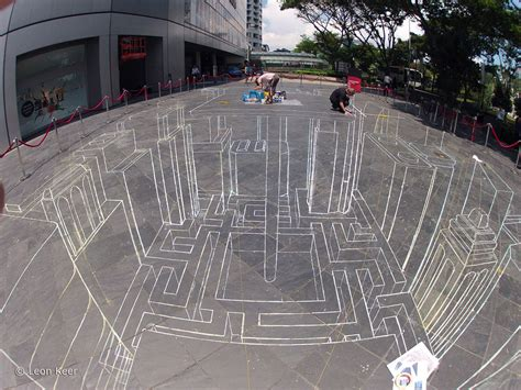 3d street painting in Singapore
