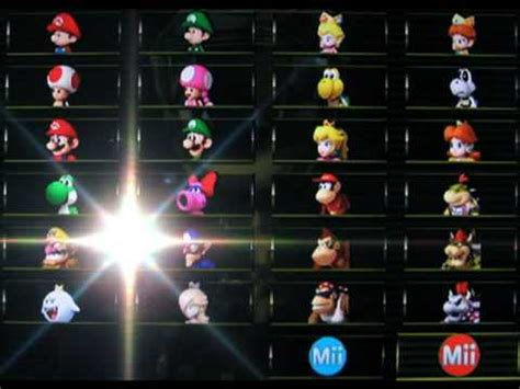 [Mario Kart Wii] How to Unlock all Characters - YouTube