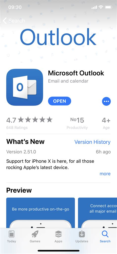 Microsoft's Email Client Now Fully Supports the iPhone X