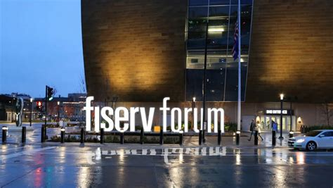Fiserv Forum name, in letters up to 13 feet high, to be