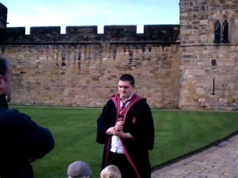 Learning about Harry Potter at Alnwick Castle - YouTube
